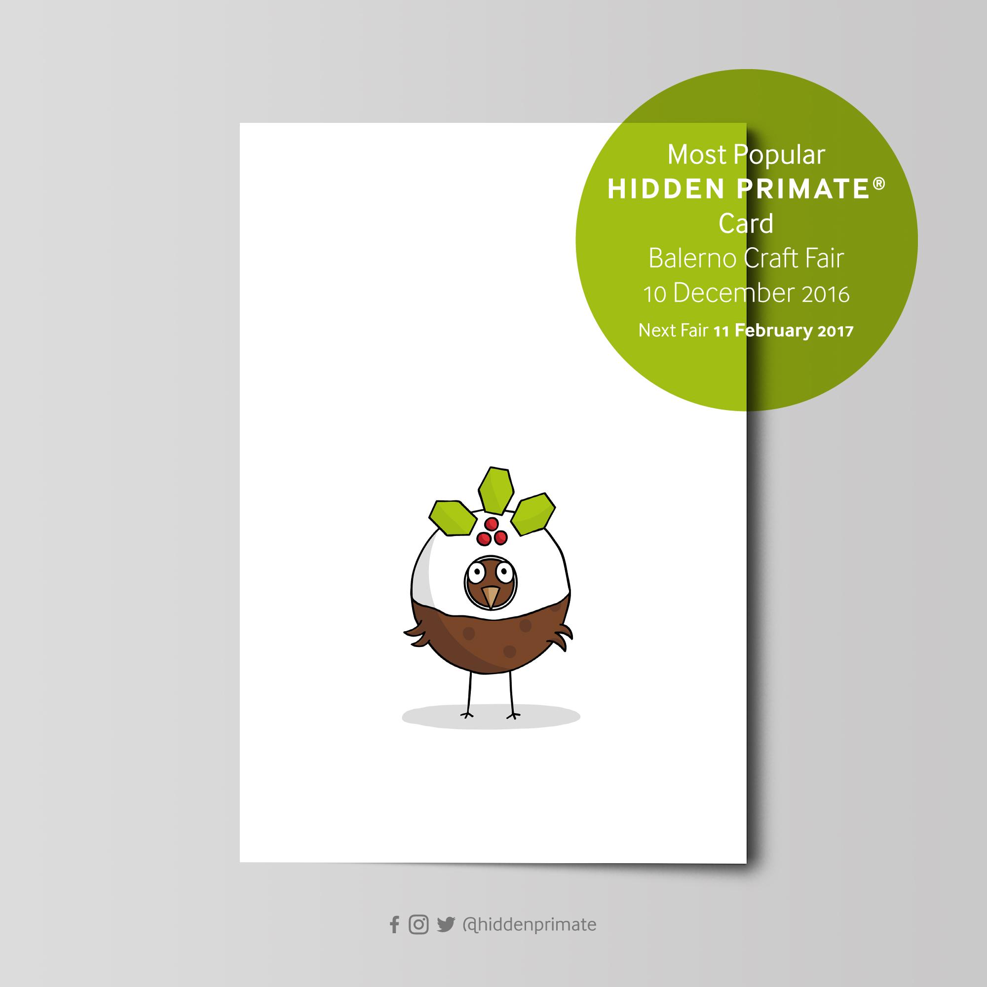 Hidden Primate® card © Stuart Cockburn I Love Grids®