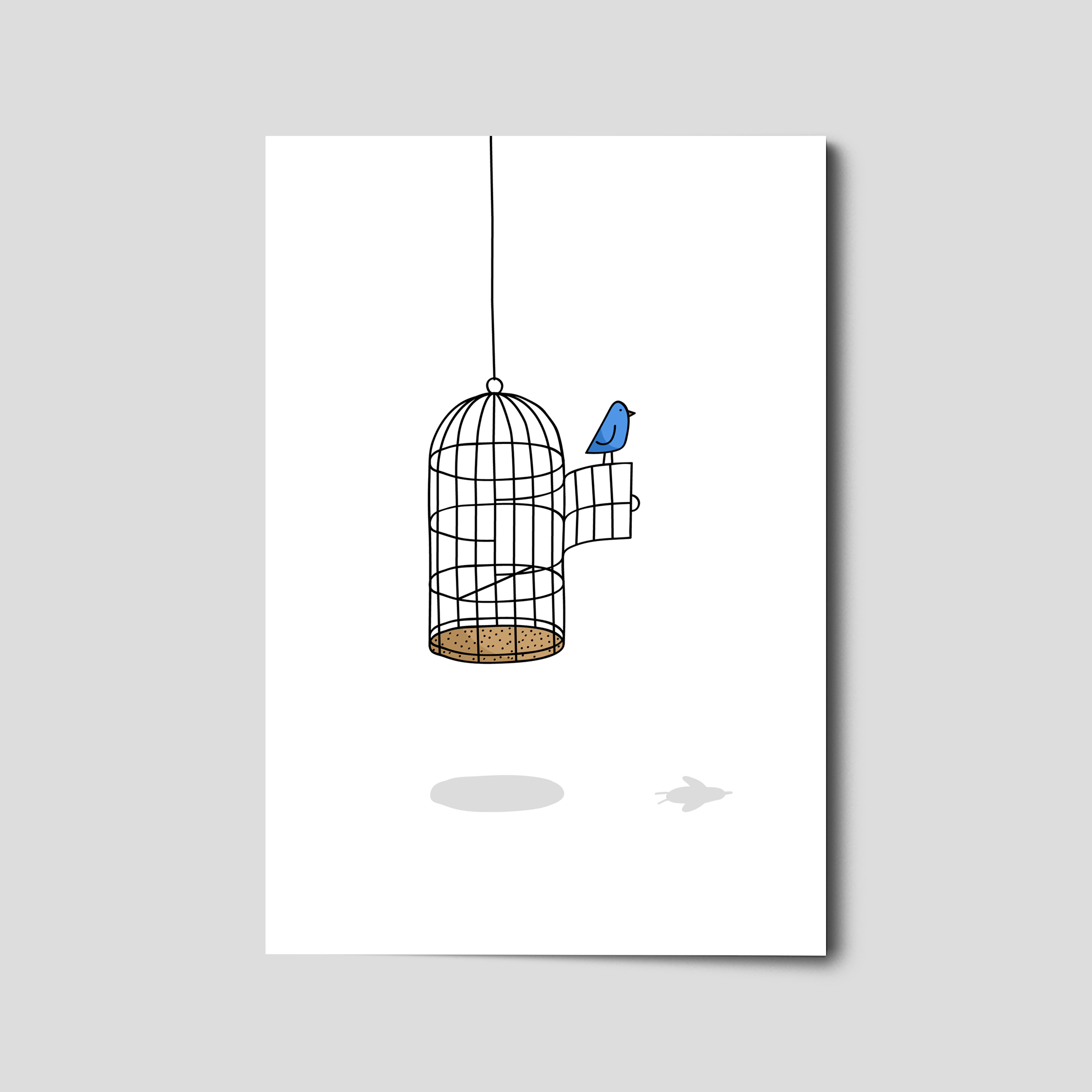 Hidden Primate® 006 The Bird and the Cage