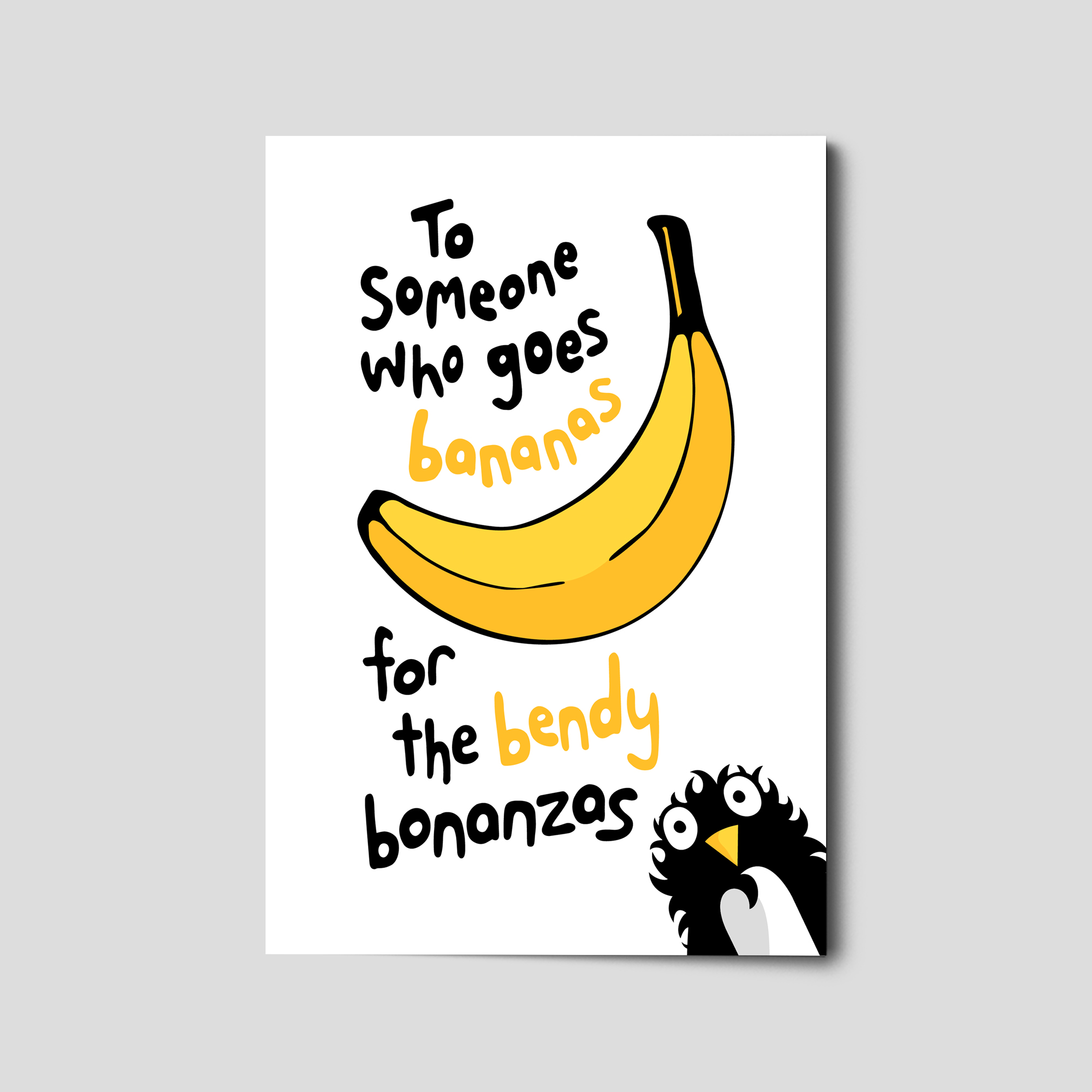 Hidden Primate® 008 To Someone Who Goes Bananas for the Bendy Bonanzas