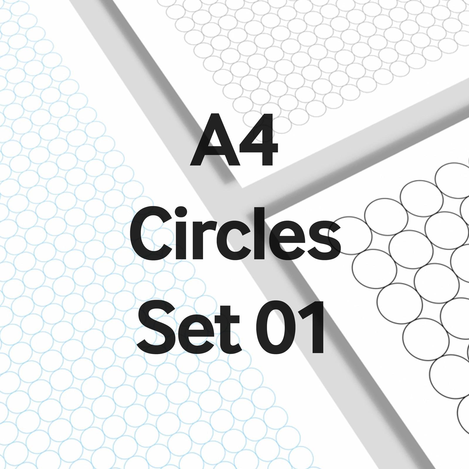 We Love Grids® A4 Circles Set 01
