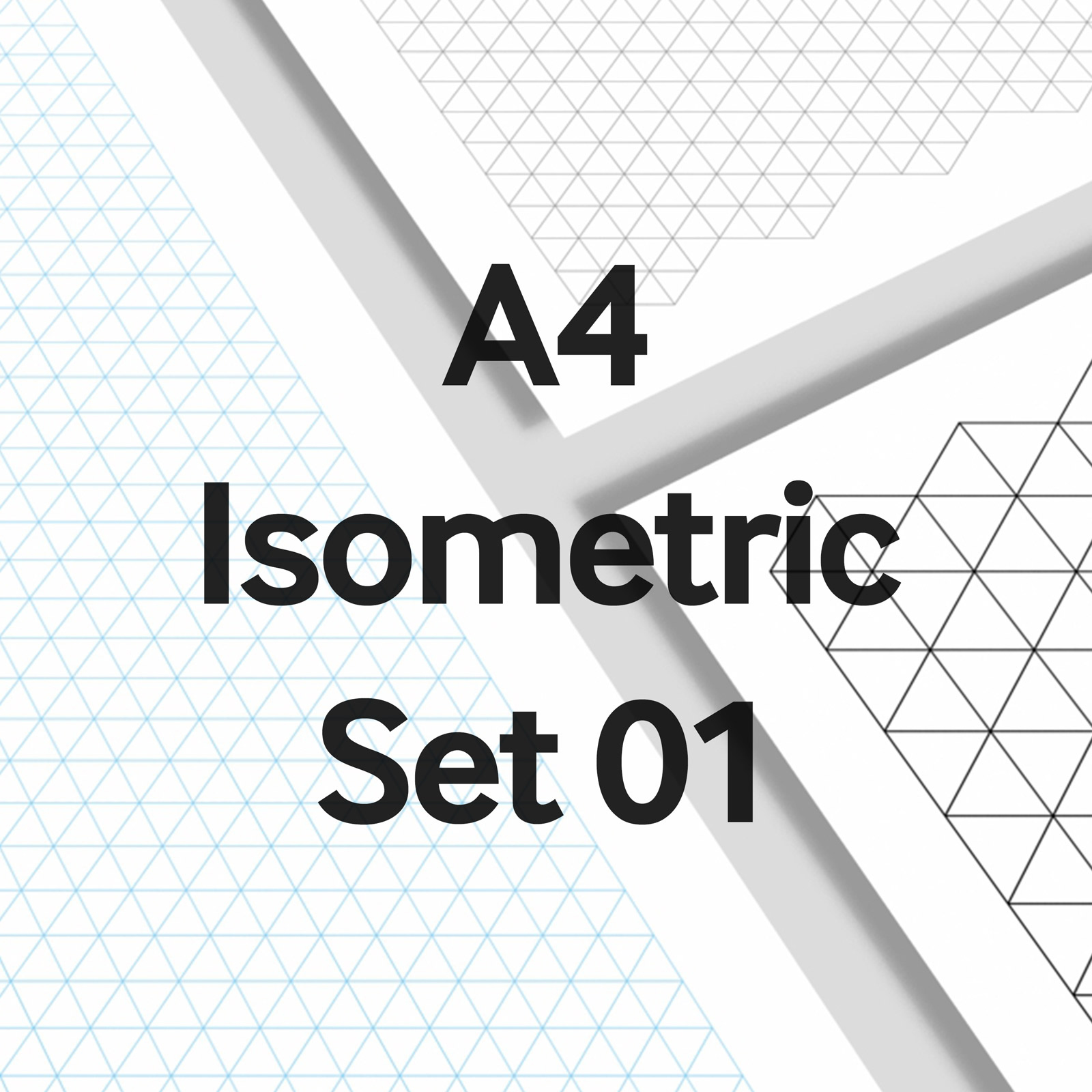 We Love Grids® A4 Isometric Set 01