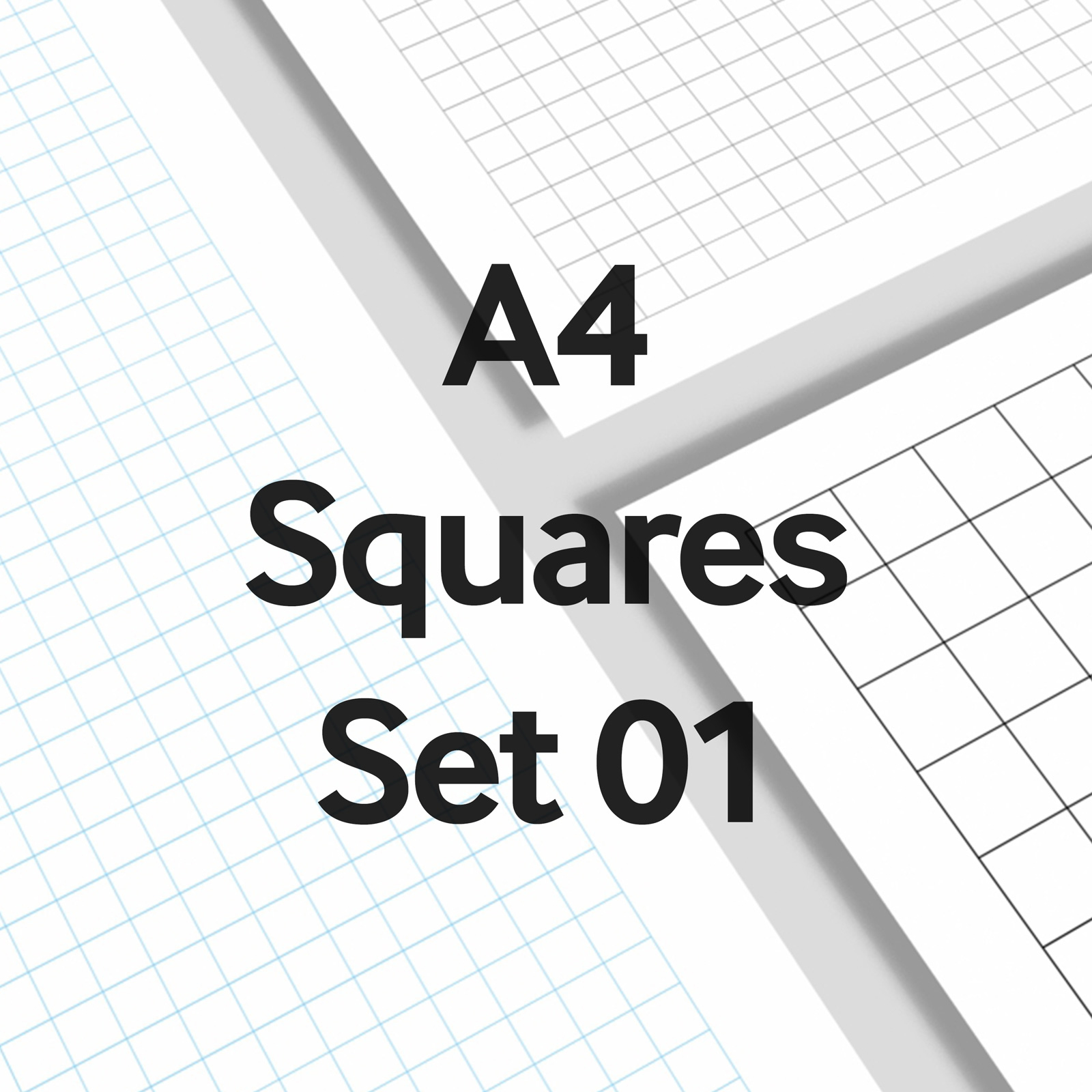 We Love Grids® A4 Squares Set 01
