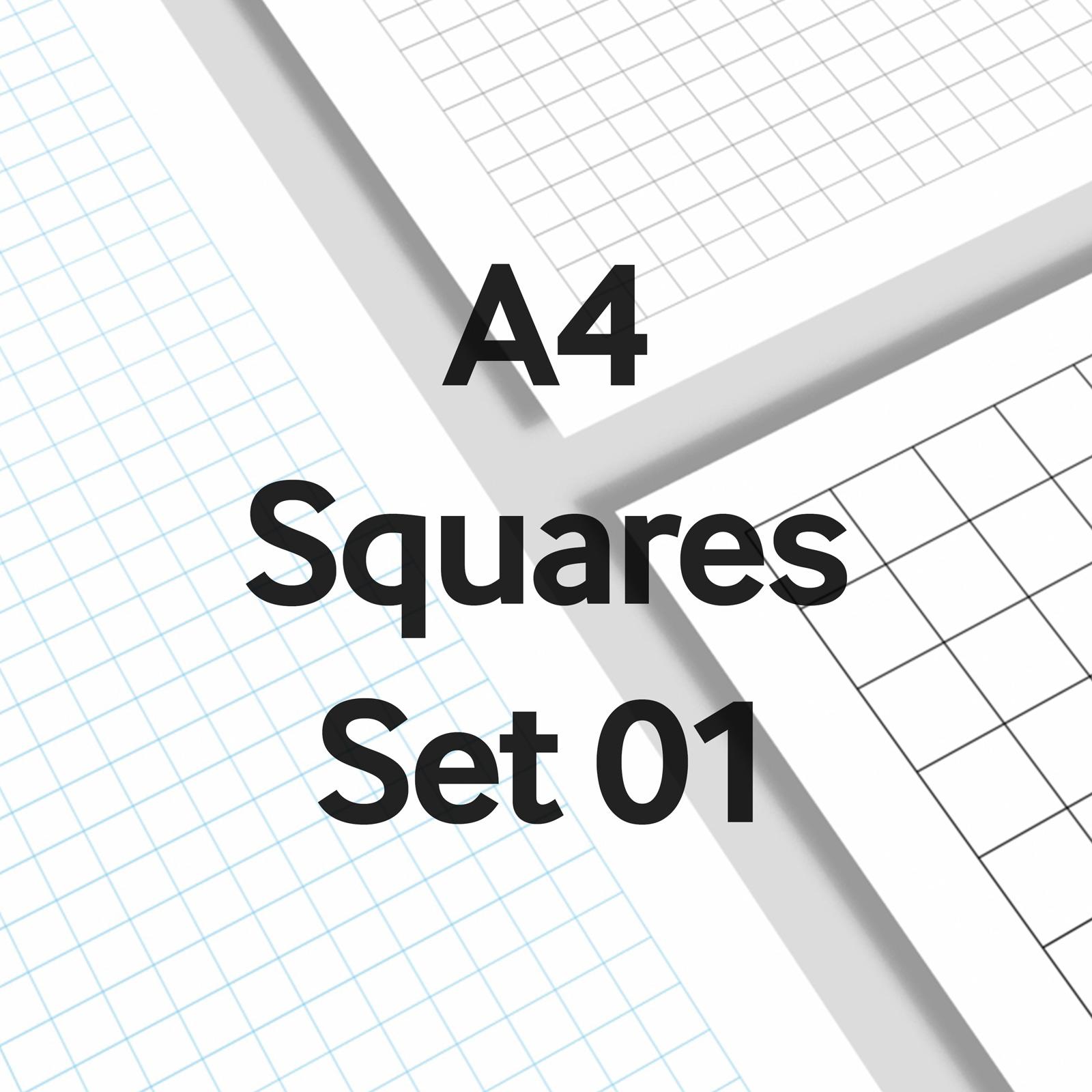 We Love Grids® A4 Squares Set 01