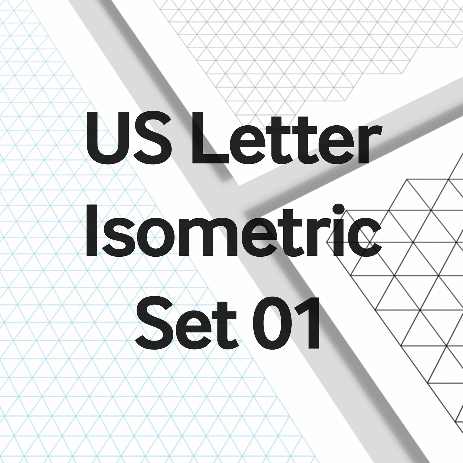 We Love Grids® US Letter Isometric Set 01
