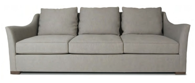 Noble sofa, three loose seats three knife edge back cushions 90 x 34 H x 39 D