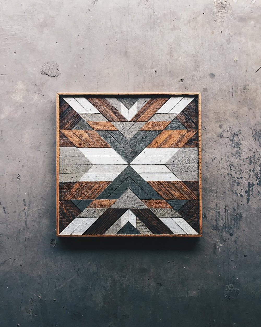 "Daphne Berger - Wall Art - 24""x24""  Made from reclaimed house wood from Nashville, TN"