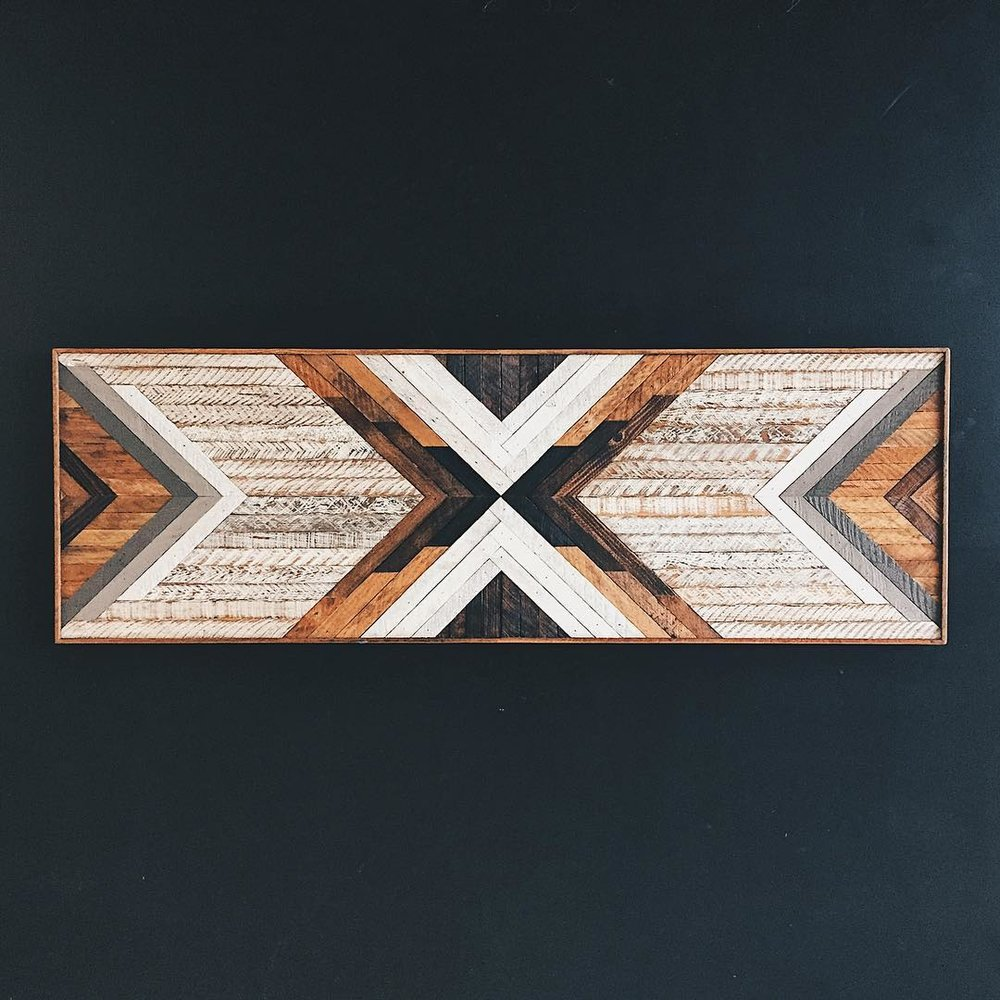 "Kimball Office - Wall Art - 72""x24""  Made from reclaimed house wood from Nashville, TN"