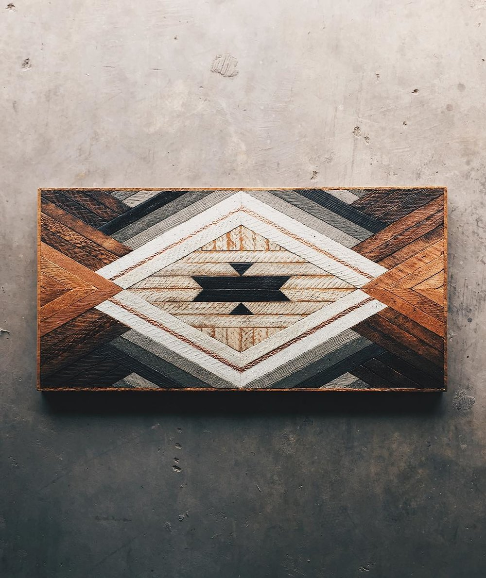 "Tyler Mosier - Coffee Table - 48""x24""x18"" Made from reclaimed house wood from Nashville, TN & textured copper"