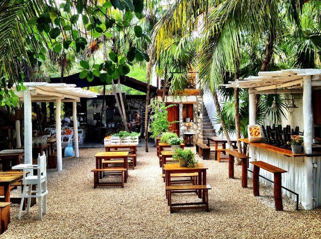 Tulum's Hartwood Restaurant (Image via  MyDomaine )