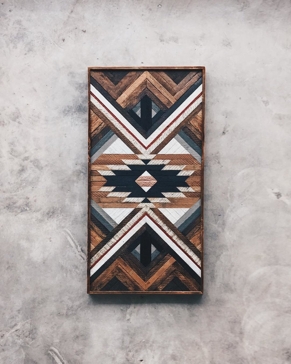 "Lori Roberts - Wall Art - 30""x60""  Made from reclaimed house wood from Nashville, TN & textured copper"