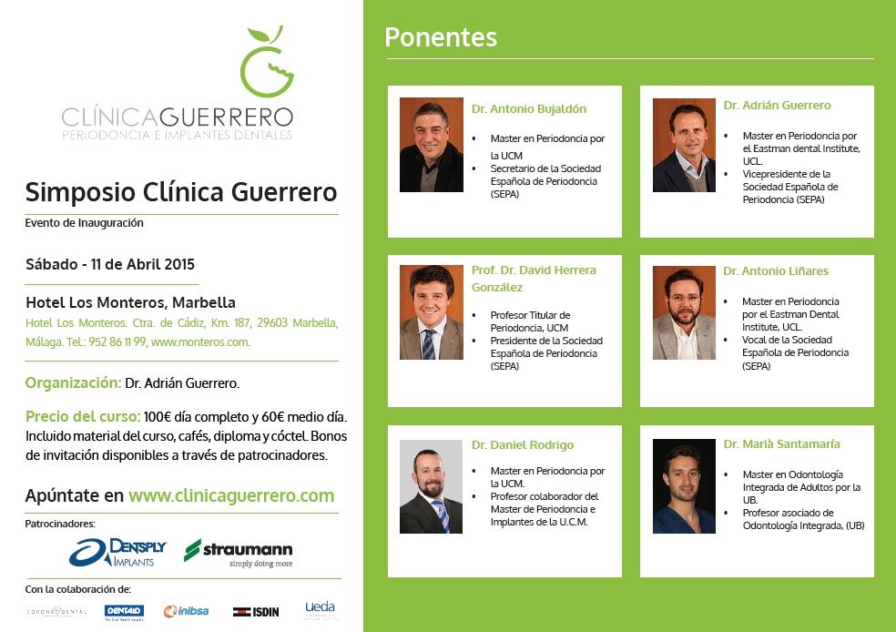 Programa del Simposio Clínica Guerrero