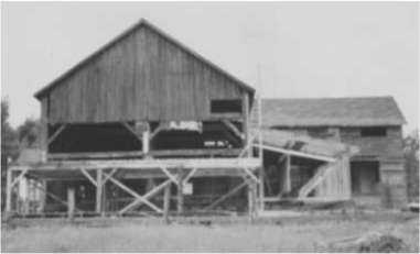 1947 Renovations of the Klebs Barn viewed from the rear.
