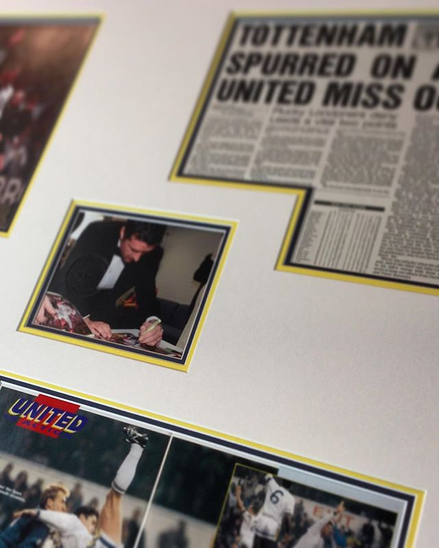 #garyspeed and #leedsunited memorabilia framed in a triple mount in @leedsunitedfc yellow, blue and white