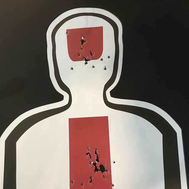 My customer did some target shooting whilst in the USA and wanted to frame the result. I first took a photo of the target and then traced around it using the draw function of a Gunnar computerised mount cutter. There's a black mount behind the bullet holes and a blackcore black mount around the figure #gunnar #gunnarcmc #orlandogunclub #shooting