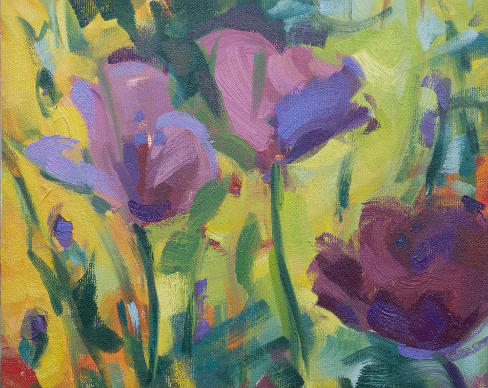 Plum Colored Poppies