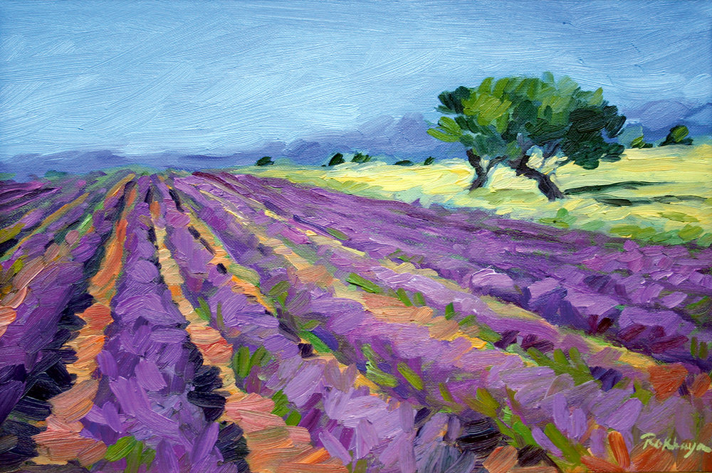 Lavender & Two Trees