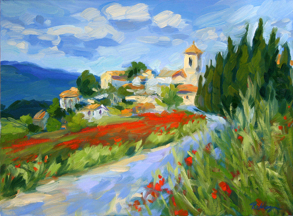 Village with Poppies