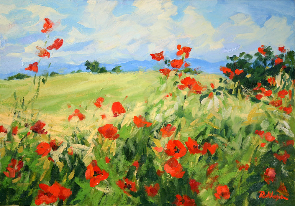 Summer Day Poppies