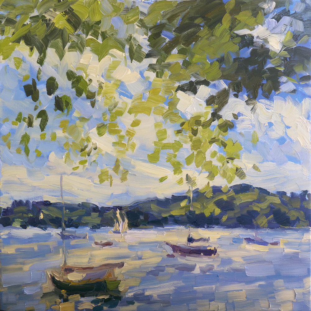 Cove, Boats, Maple