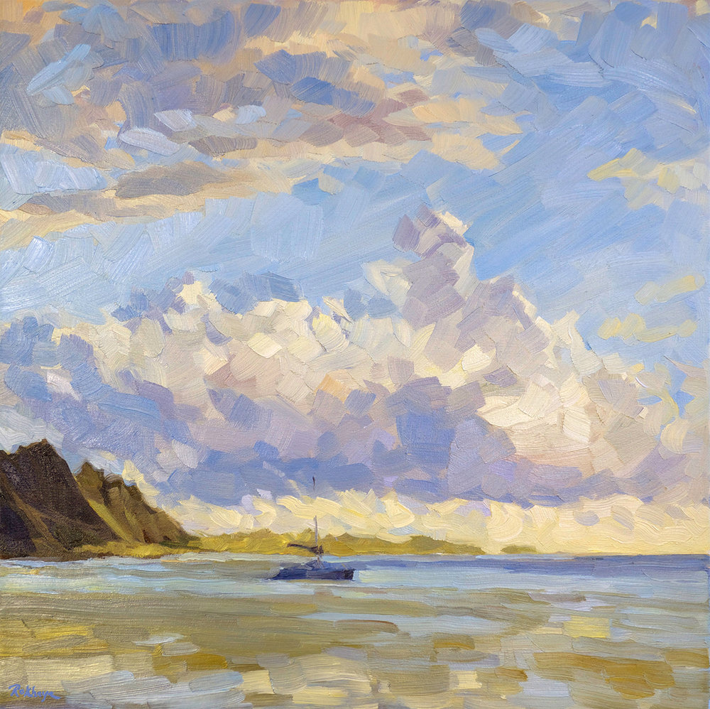 Sunset, Opunohu Bay
