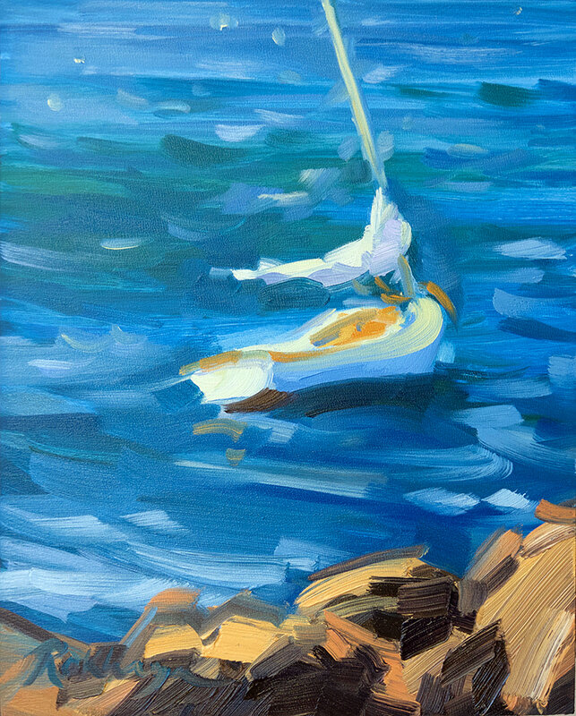 Windy Day Sailboat