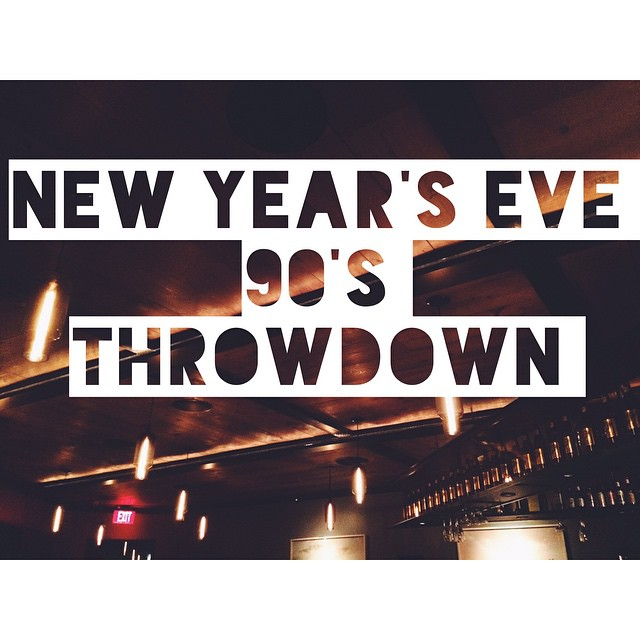 It's going down at Alibi on NYE with a sweet 90's party.  We're talkin' throwback cocktails & shooters like: Sex On The Beach Malibu Bay Breeze Madras B52 Kamikaze  All your favorite 90's jamz (don't front like you don't know the words to every N*Sync song) Plus Chego & Kogi BBQ being served out of our kitchen. All of this = guaranteed DOPENESS.