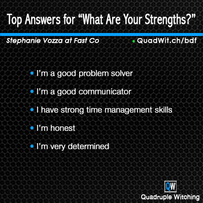 Top Answers For What Are Your Strengths Quadruple Witching