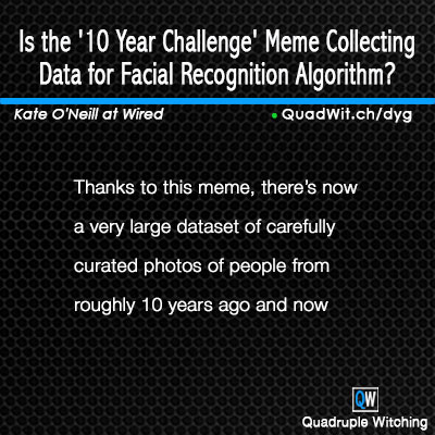 Is the '10 Year Challenge' Meme Collecting Data for Facial