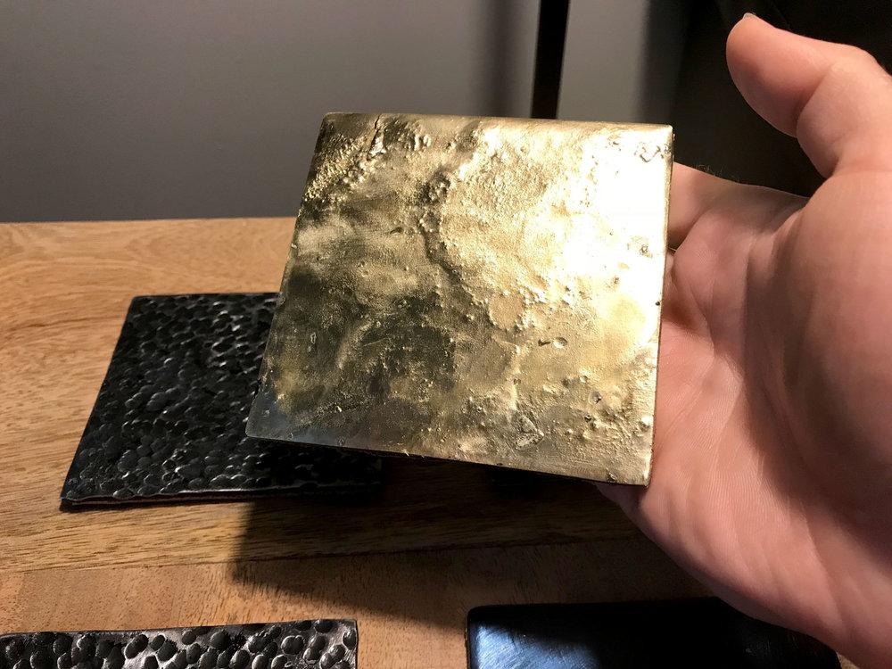 Yellow Brass Brazed onto Steel