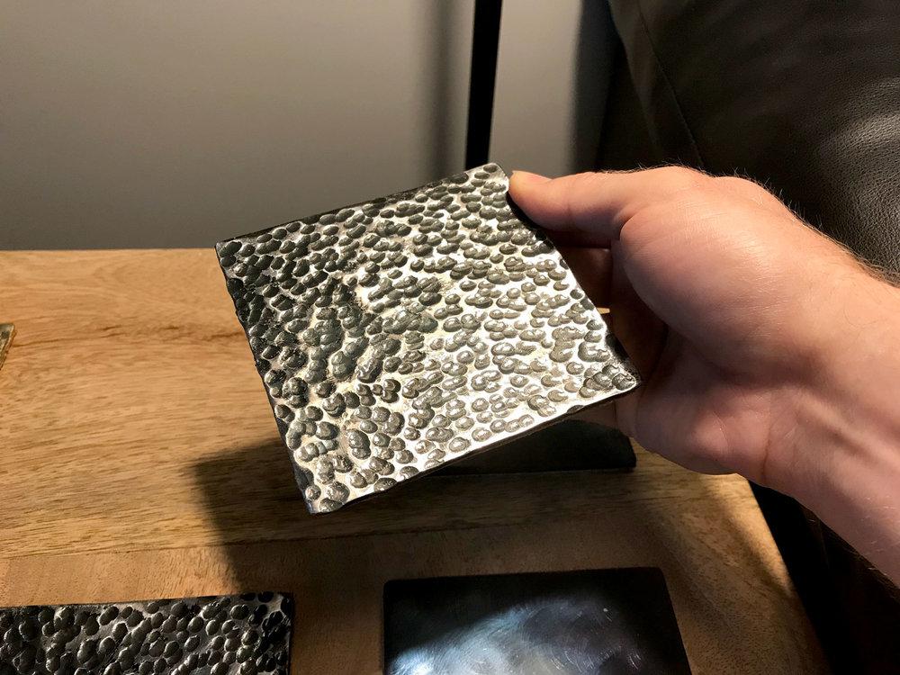 Ball-Peen Hammered Steel