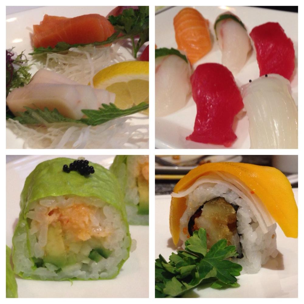 (L - R - Sashimi, Nigiri, Sapporo Roll, DC Roll)