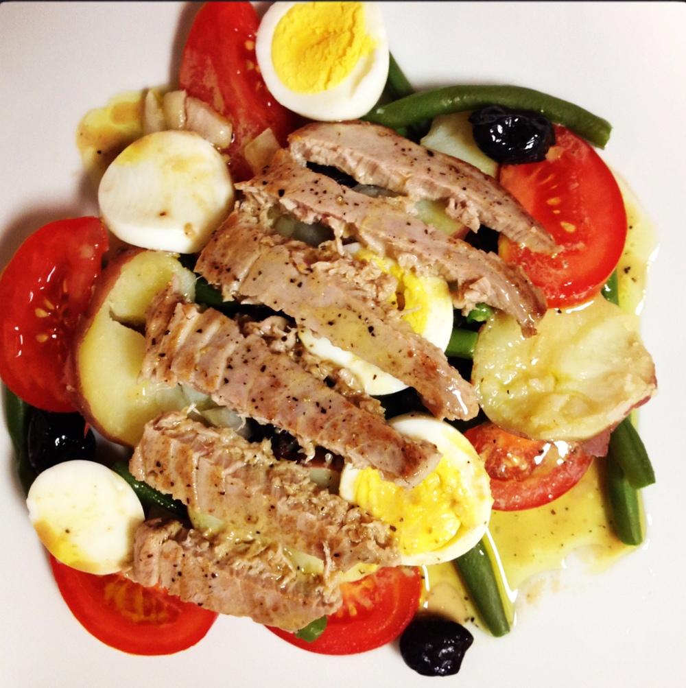 Plated Salade Niçoise