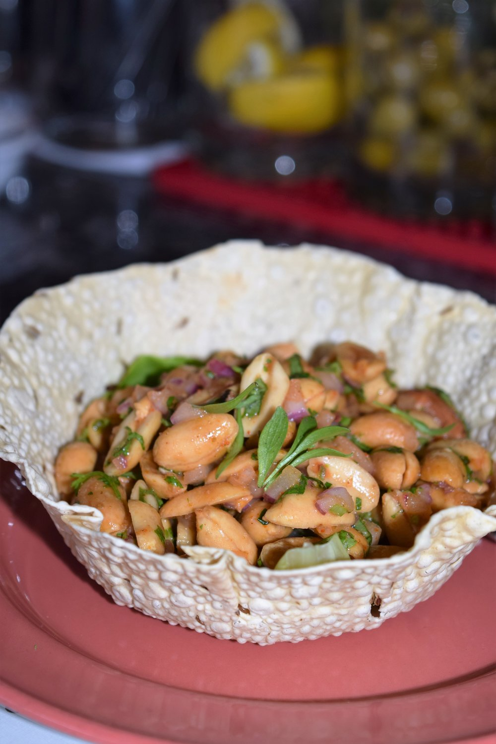 MASALA PEANUTS (roasted peanuts, fresh lemon, red chili and cilantro)