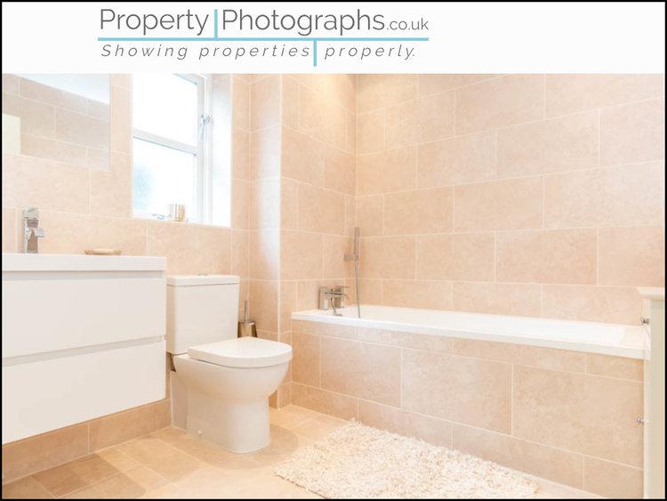 Property Photographs vs Standard Agent Shot - Family Bathroom