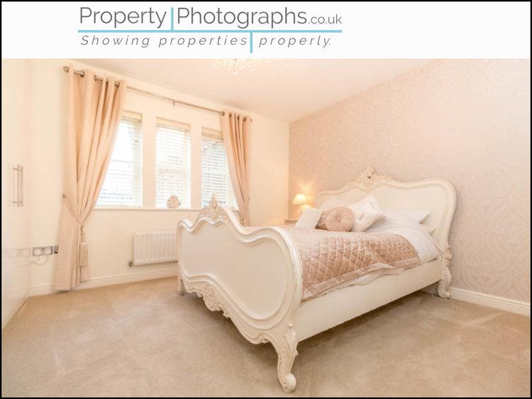 Property Photographs vs Standard Agent Shot - Master Bedroom