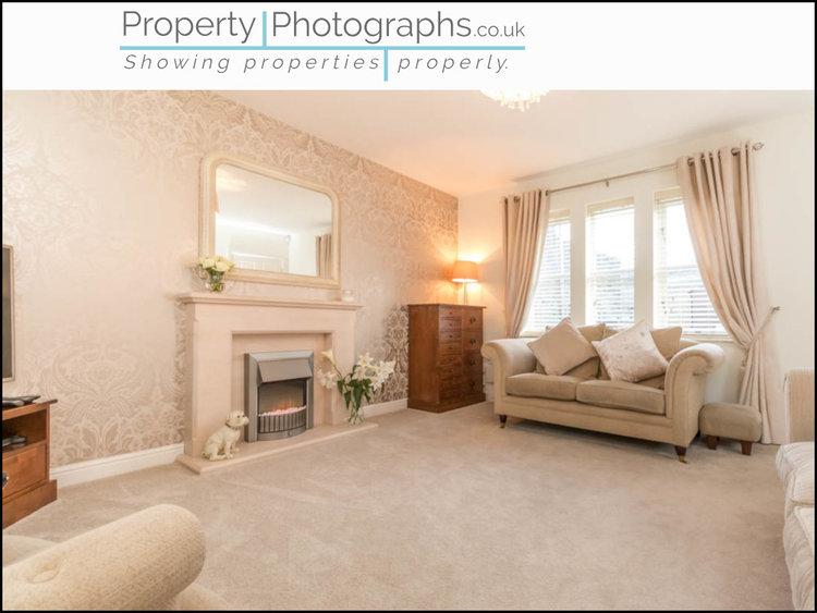 Property Photographs vs Standard Agent Shot - Living Room