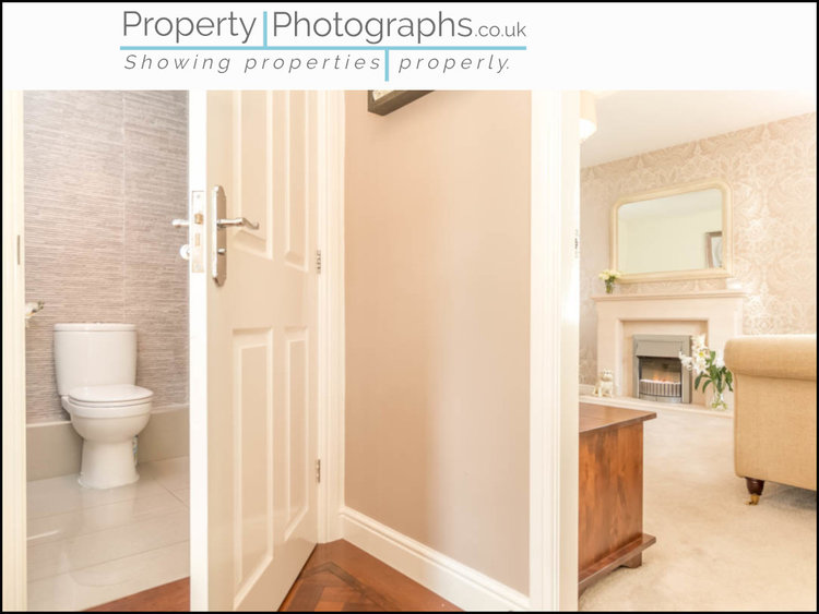 Property Photographs vs Standard Agent Shot - Bathroom