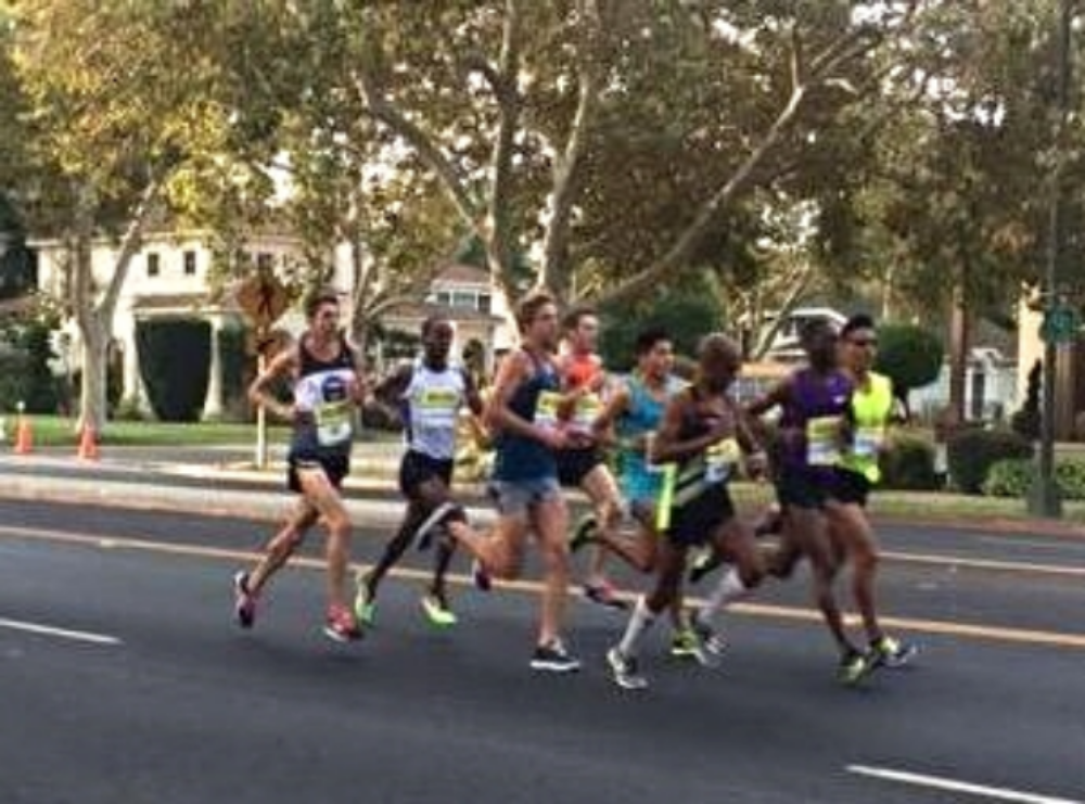 lead pack on the roads of San Jose  (matt far left)  Photo Cred: Wendy shulik