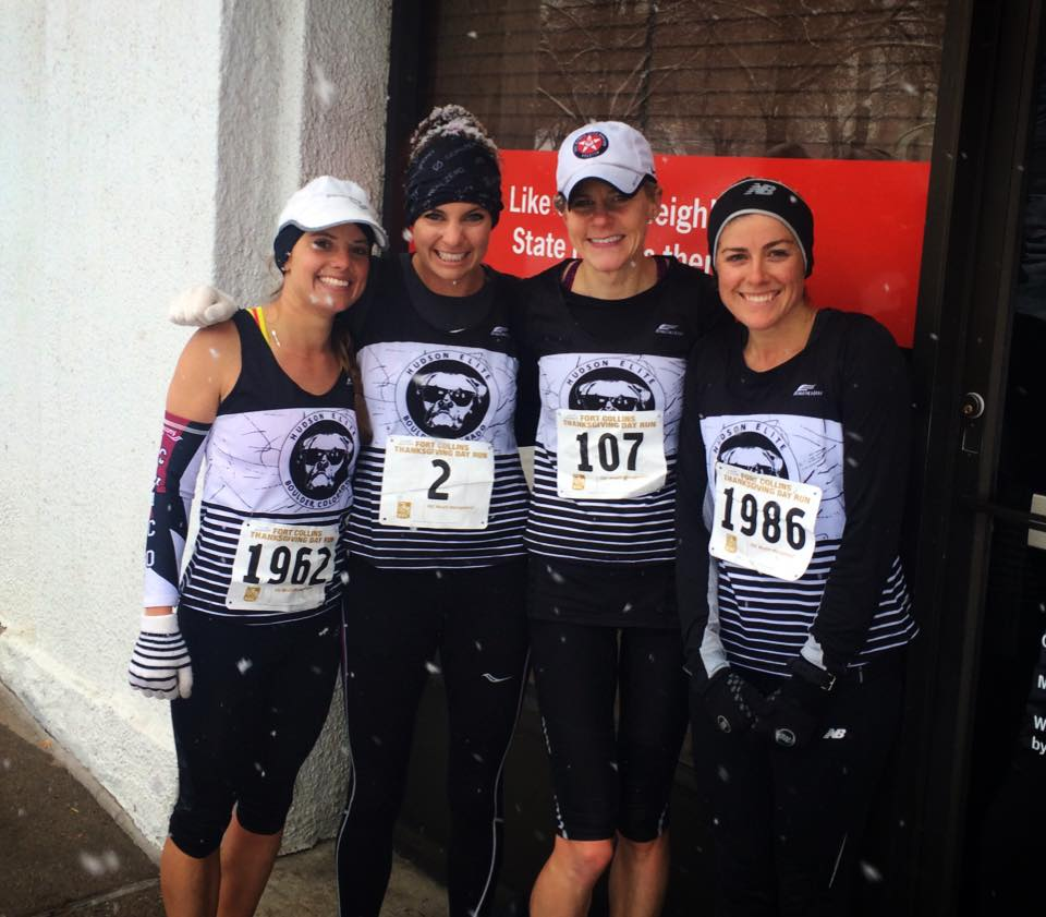 Hudson elite ladies post 4 miles (from L: K. Lubieniecki, m.callahan, c. becque, and j. murphy)