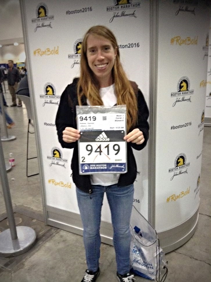 pre-race excitement at the Expo after picking up my bib number