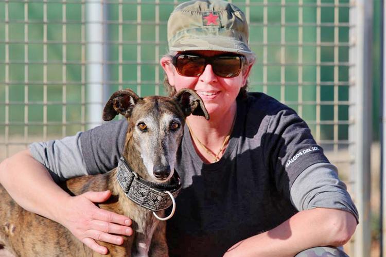 Mason with volunteer Katja