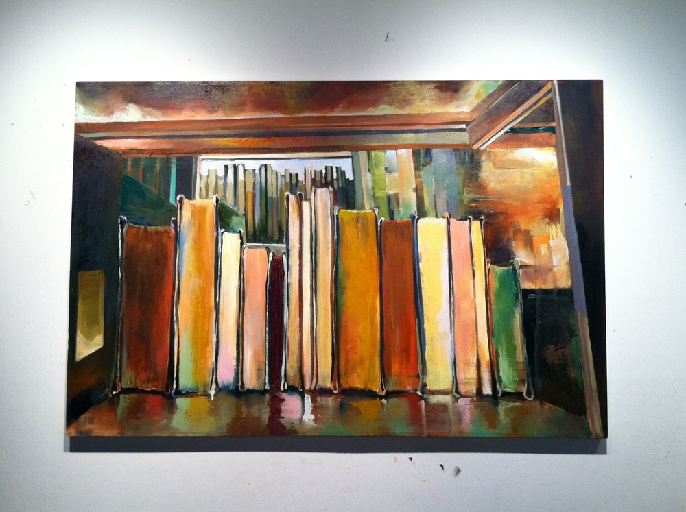 "Shelved  oil on canvas  40"" X 60""  SOLD"