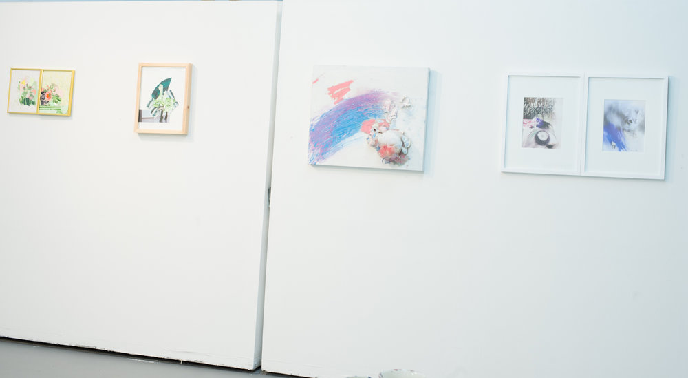 left wall: amanda joy brown, right wall: dez hough and mihail tomescu