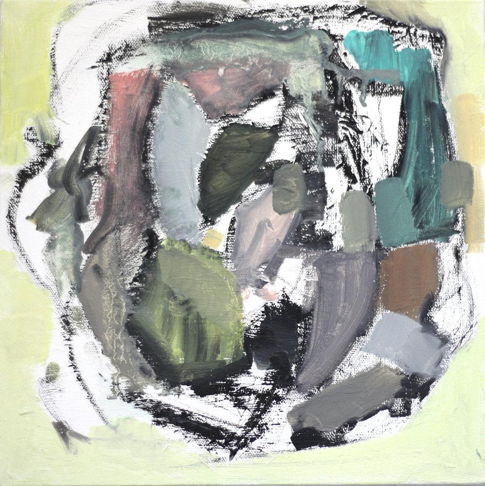"""The City Bird  oil on canvas  10"""" X 10"""""""