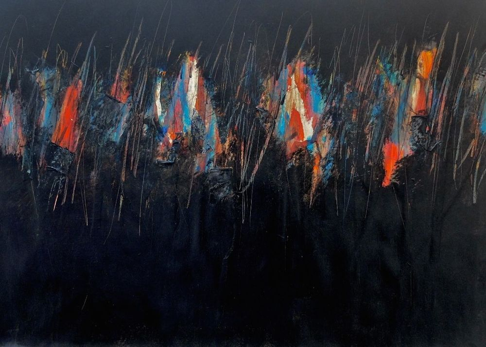 night in Cairo; acrylics on paper; 110x79; 2012