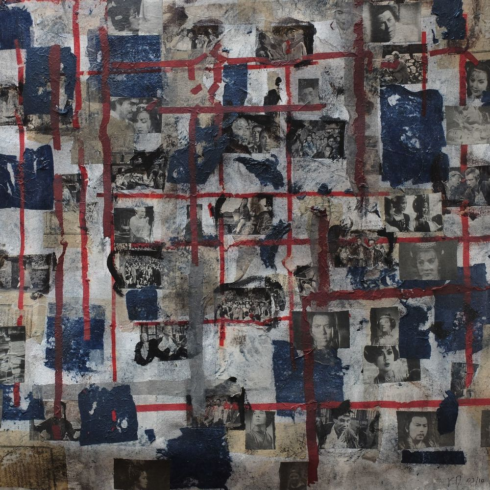 years ago VI; mixed media on canvas; 90x90; 2009