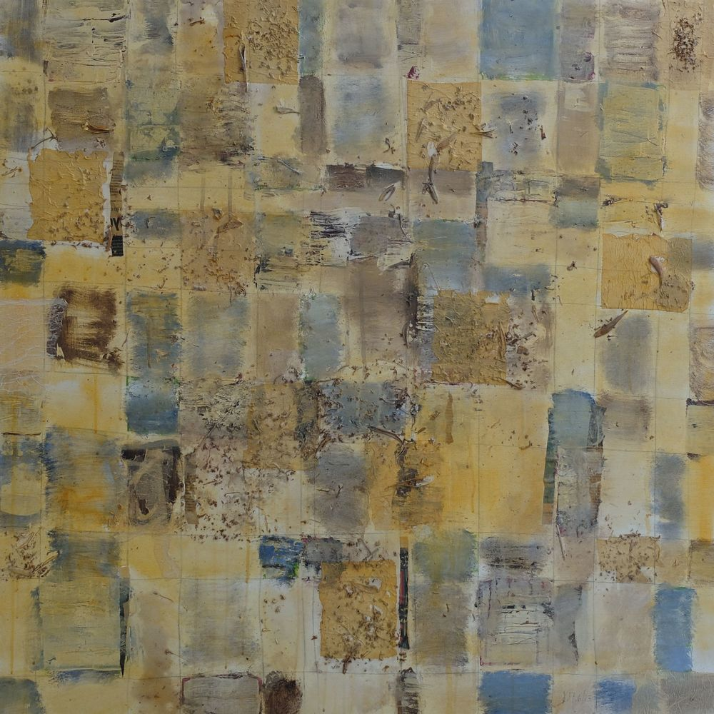 Late spring; mixed media on canvas; 90x90; 2014