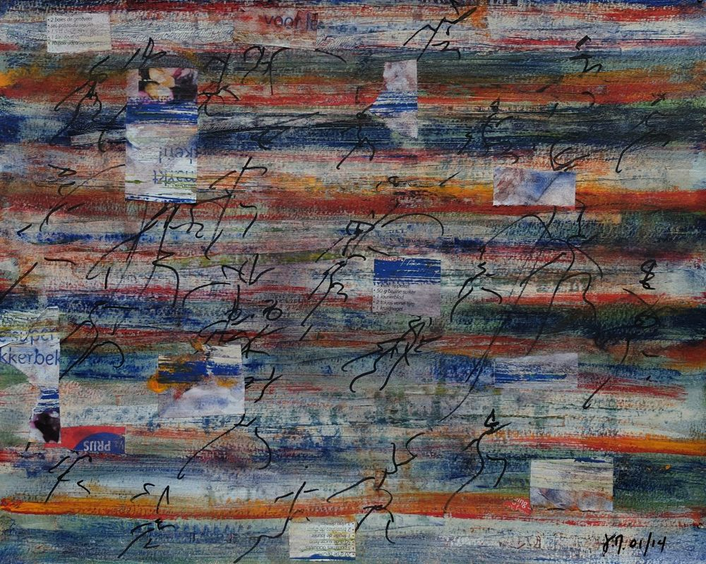 untitled; mixed media on paper; 32x39; 2014