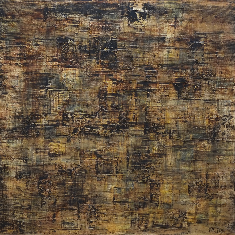 Untitled; mixed media on canvas; 90x90; 2015