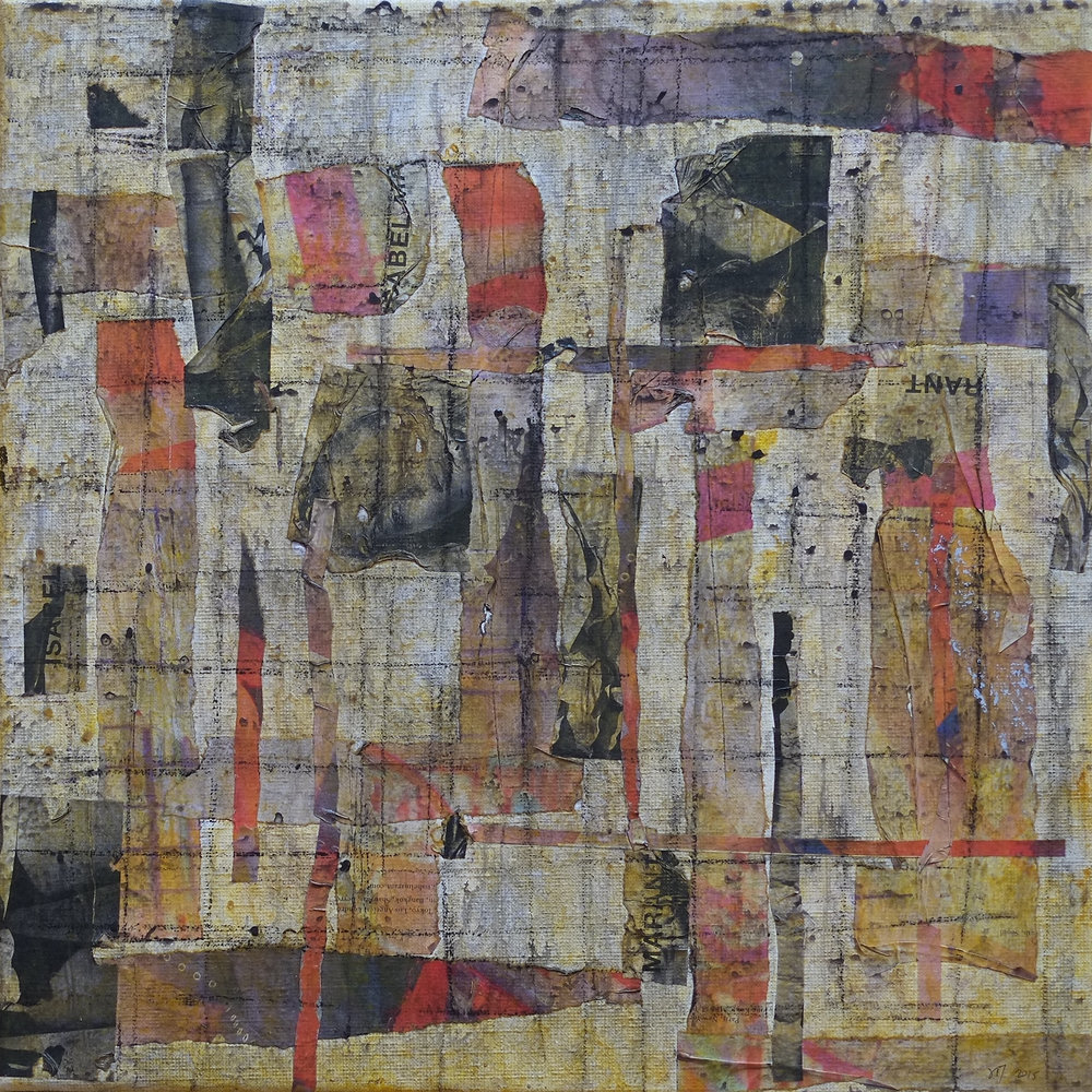 Untitled; mixed media on canvas; 50x50; 2015